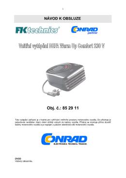 NÁVOD K OBSLUZE - produktinfo.conrad.com