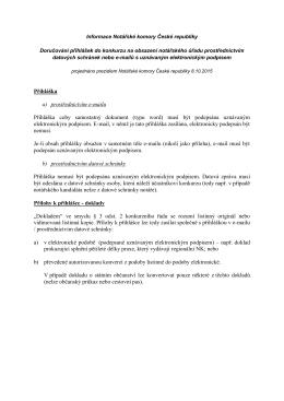 Informace NKČR k doručování přihlášek v elektronické podobě