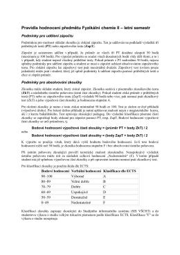 Podmínky - Ústav fyzikální chemie