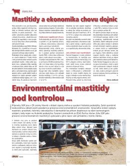 Environmentální mastitidy pod kontrolou