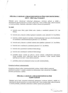 PRÍLOHA c.l-ROZSAH A OBSAH SERVISNÍCHSLUŽEB