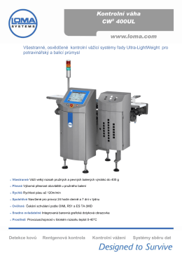 CW3 400 UL Kontrolní váha