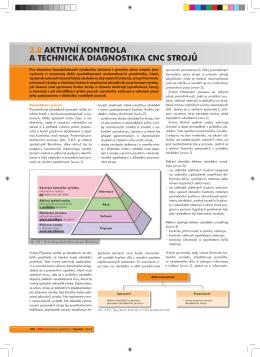 3.8 aktivní kontrola a technická diagnostika cnc strojů