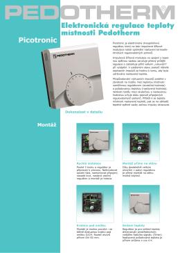 Elektronická regulace teploty místnosti Pedotherm Picotronic