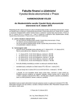 Fakulta financí a účetnictví Vysoká škola ekonomická v Praze