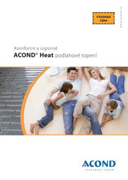 ACOND® Heat - Podlahové topení