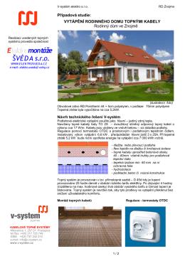 Podlahové vytápění RD Znojmo - V
