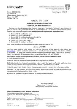 Spis.zn.: SÚ/8173/15/Gie Karlovy Vary, dne 13.7.2015 Č.j.: 8479/SÚ