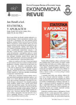 Jan Hendl a kol. STATISTIKA V APLIKACÍCH
