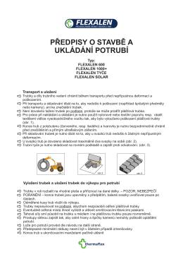 Předpisy pro pokládku Flexalenu(4.8.09)