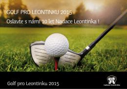 Nabídka 2015 - GOLF PRO LEONTINKU