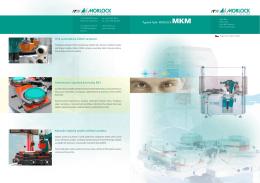 Typová řada MORLOCK MKM Plně automatické čištění tamponů