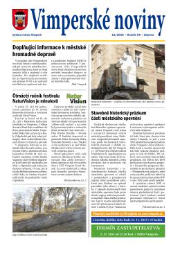 Vimperské noviny 11/2015
