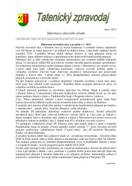 Obecní zpravodaj - únor 2015