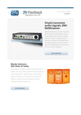 Chytrý konvertor audio signálu 2N® NetStreamer