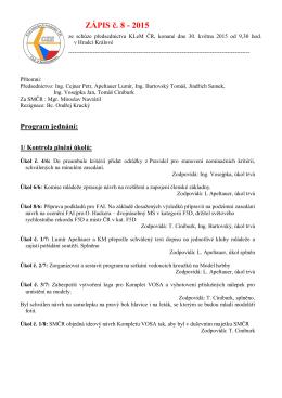 ZÁPIS č. 8