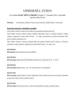 USNESENÍ č. 23/2014