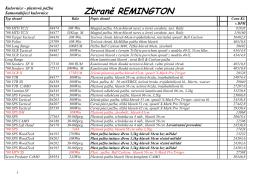 Remington Zbraně - FrybortZbrane.cz