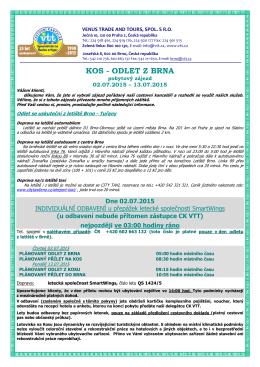 Pokyny Kos z Brna 02.7. - 13.7. 2015-1