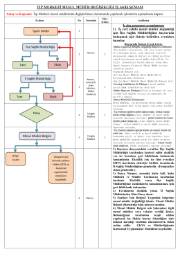 tıp merkezi mesul müdür değişikliği iş akış şeması