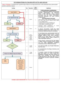tıp merkezi branş çıkarma/iptali iş akış şeması