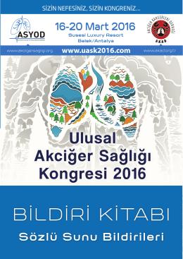 Sözlü Sunu Bildirileri - UASK-2016