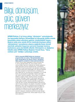 """Bilgi, dönüşüm, güç, güven merkeziyiz"""" – KPMG Türkiye Başkanı"""