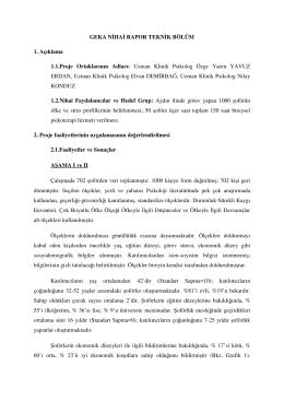 Uzman Klinik Psikolog Özge Yaren YAVUZ ERDAN, Uzm