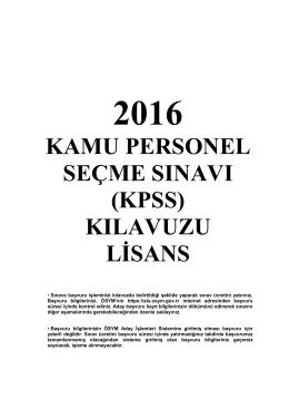 kpss - Ösym