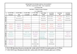 iibf 2015-2016 2. dönem arasınav programı