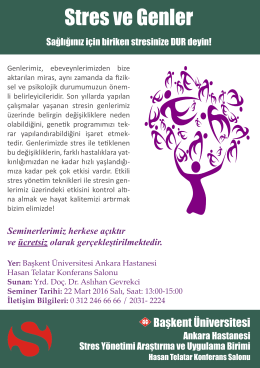 Stres ve Genler - Başkent Üniversitesi