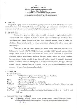 T.C SAĞLIK BAKANLIĞI Türkiye Halk Sağlığı Kurumu Başkanlığı