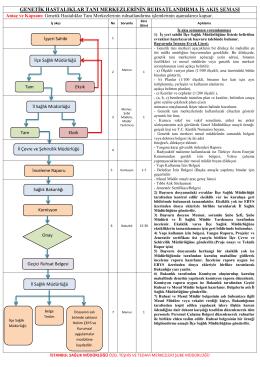 genetik hastalıklar tanı merkezlerinin ruhsatlandırma iş akış şeması