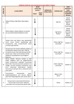 öğrenci disiplin ceza işlemleri iş akış süreci formu
