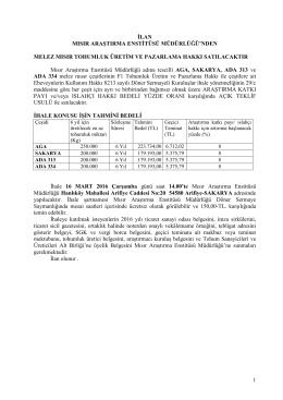 maem mısır çeşitleri satış ilanı 2016
