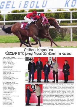 Gelibolu Koşusu`nu RÜZGAR ETO jokeyi Murat