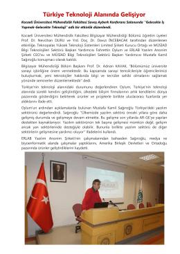 Türkiye Teknoloji Alanında Gelişiyor