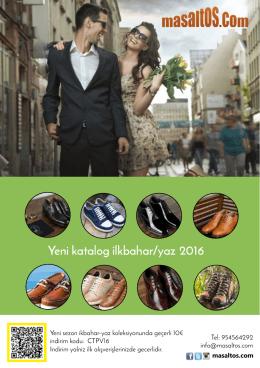Yeni katalog ilkbahar/yaz 2016
