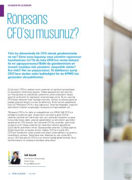 Rönesans CFO`su musunuz? (PDF 118KB)