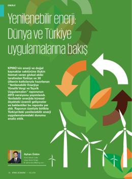 Yenilenebilir enerji: Dünya ve Türkiye uygulamalarına bakış