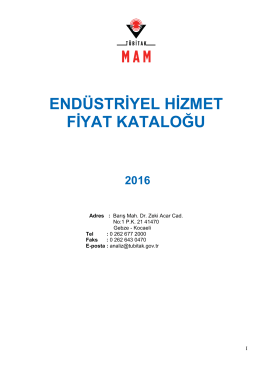 2014 fiyat listesi - Marmara Araştırma Merkezi
