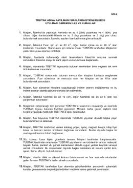EK-2 TÜBİTAK ADINA KATILINAN FUARLARDA/ETKİNLİKLERDE