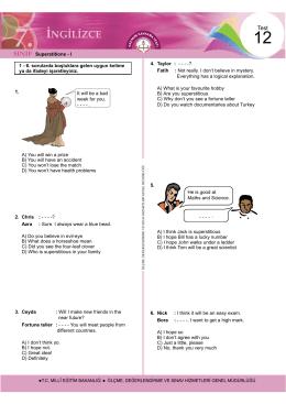 1. 5. 6. Nick Superstitions - Ölçme, Değerlendirme ve Sınav