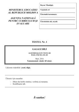 Dikat oku teksti - Agenţia Naţională pentru Curriculum şi Evaluare