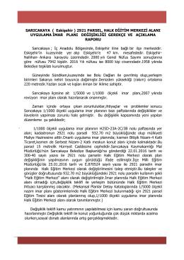 SARICAKAYA ( Eskişehir ) 2921 PARSEL, HALK EĞİTİM MERKEZİ