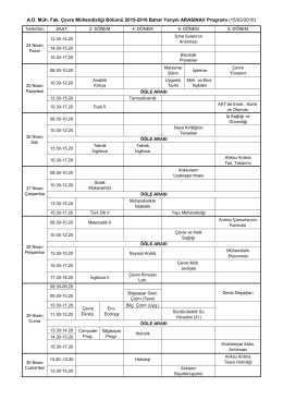 2015-2016_Bahar Yarıyılı Ara Sınav Programı