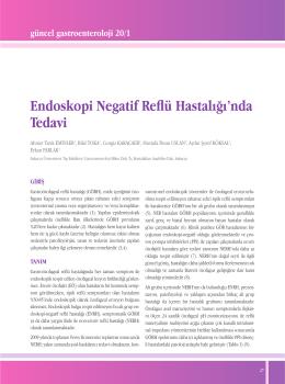 Endoskopi Negatif Reflü Hastalığı`nda Tedavi
