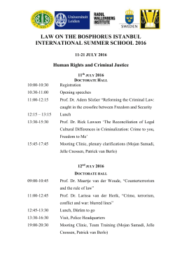 law on the bosphorus istanbul international summer school 2016