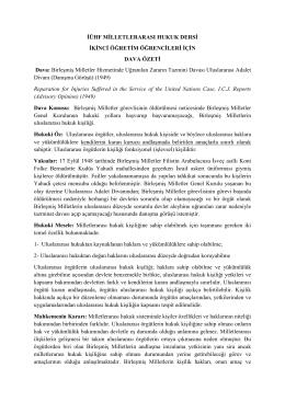 BM Hizmetlerinde Uğranılan Zararların Tazmini Davası