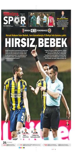 Hırvat Hakem Ivan Bebek, ters kararlarıyla F.Bahçe`nin turunu çaldı: